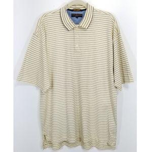Tommy Hilfiger Yellow Blue Striped Golf Polo Shirt